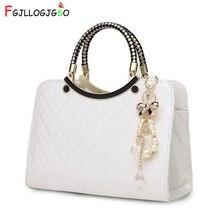 FGJLLOGJGSO New Luxury simple shells leather handbag Famous brand designer female tote knitting shoulder bag women Messenger bag