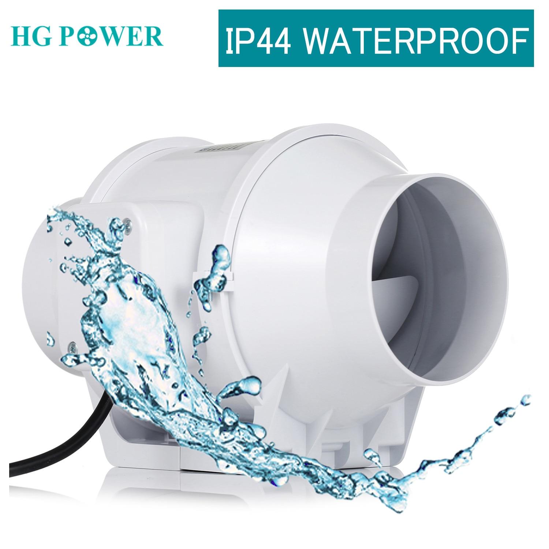 3''~5'' Waterproof Inline Duct Fan Strong Ventilation System Extractor Fan For Kitchen Bathroom Toilet Ventilator Cooker Hood