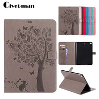 3D Embossing Case For Ipad Air 2 PU Leather Smart Case Fashion Floral Design Auto Sleep