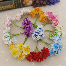 36PCS Artificial flowers chrysanthemums Wedding decoration wreath material Apple bouquet of chrysanthemum AQ221