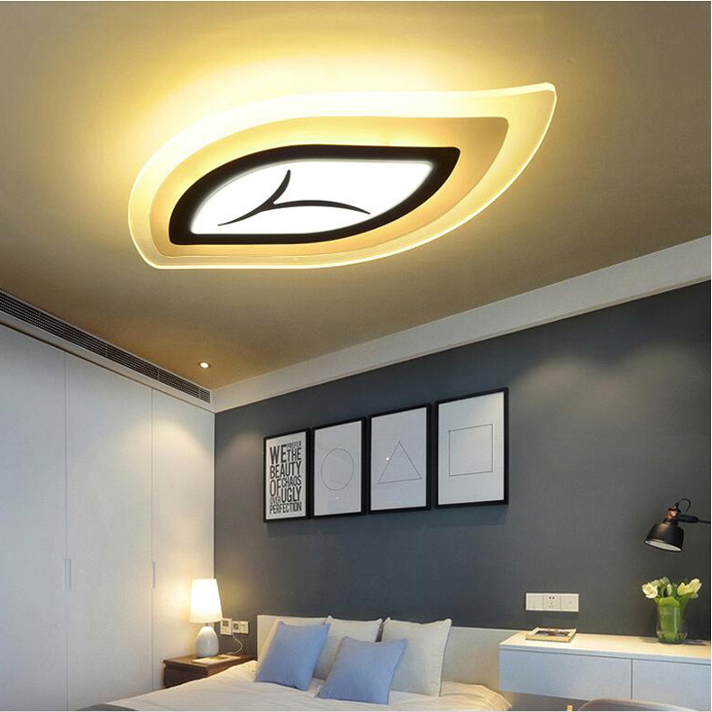 Modern Leaf Led Eye Protection Ceiling Light Bedroom Acrylic lighting fixture Dining Room Living Room Ceiling Light AC 85-240V
