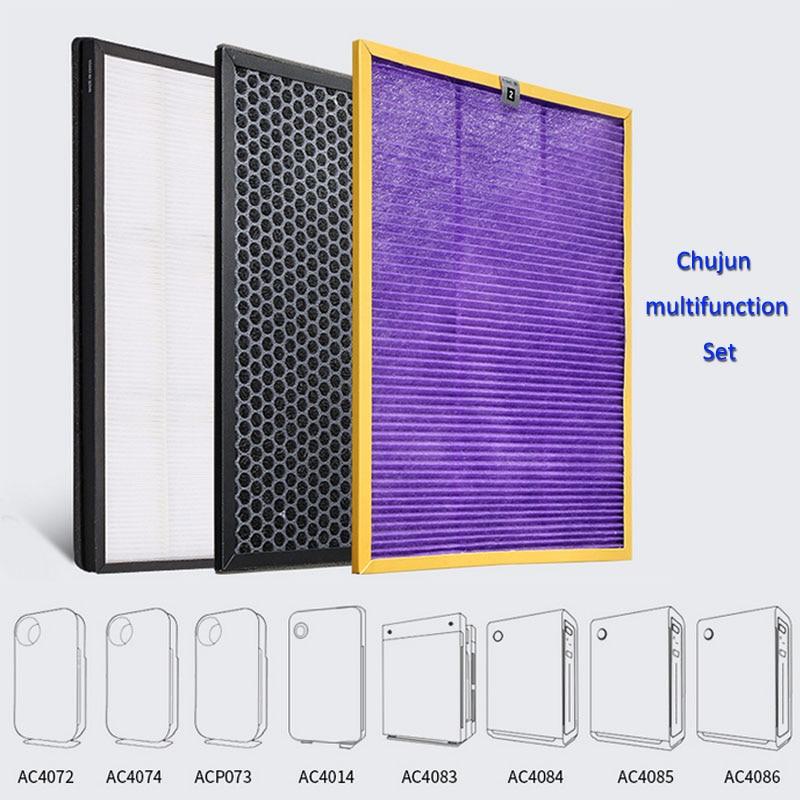 Ac4141 + ac4143 + ac4144 filtre kit pour Philips AC4072 AC4074 AC4083 AC4084 AC4085 AC4086 AC4014 ACP073 purificateur d'air pièces