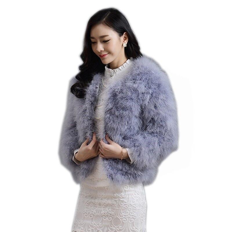 13 couleurs mode sexy autruche laine turquie fourrure 2018 laine manteau plume fourrure courte veste angelababy livraison gratuite