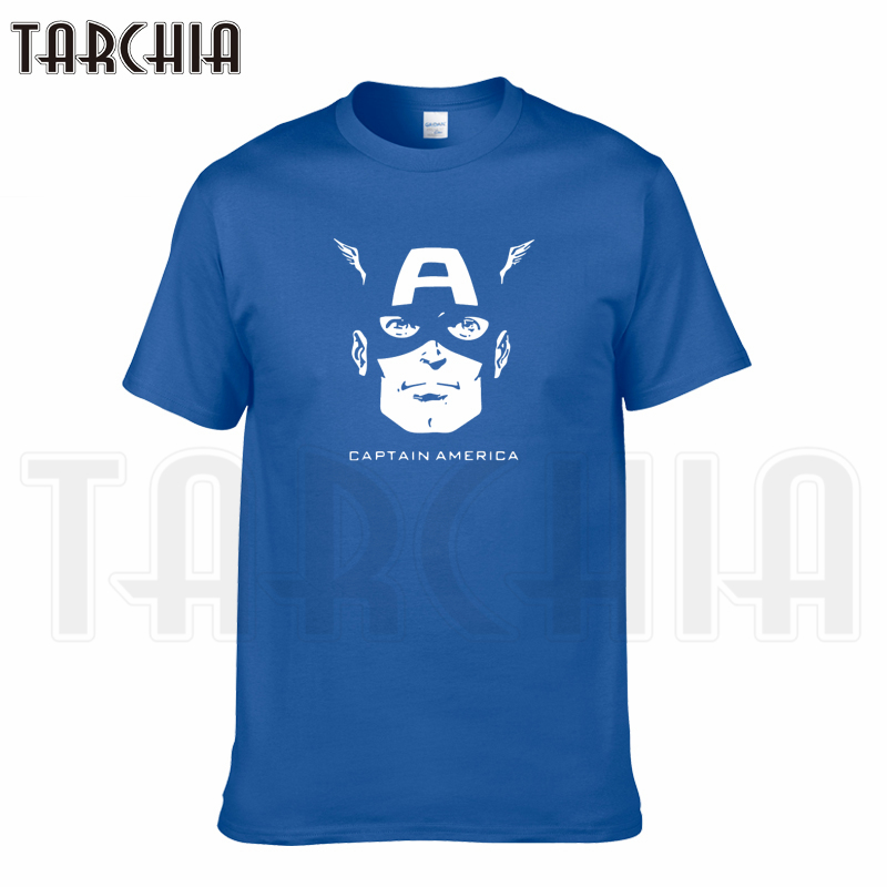 TARCHIA 2018 summer brand captain america face Avengers t-shirt cotton tops tees men short sleeve boy casual homme tshirt t plus