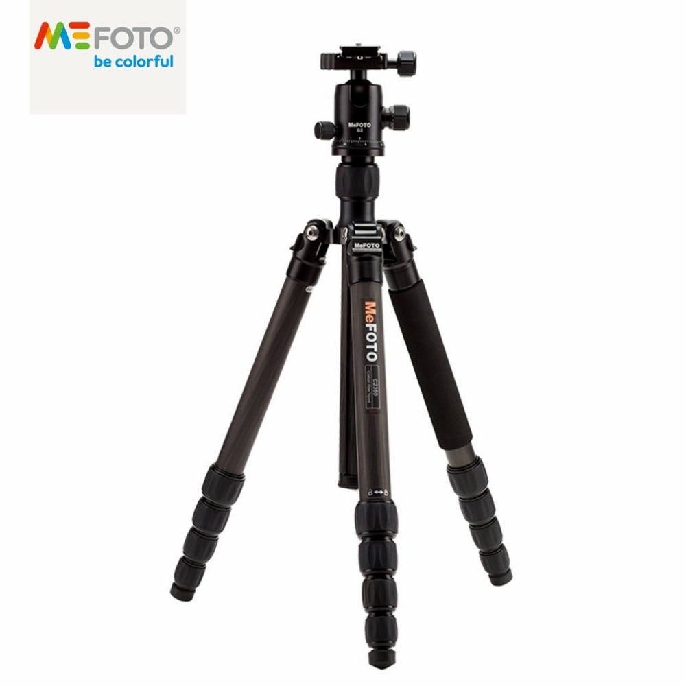 все цены на Brand New MeFOTO Classic Carbon Fiber Globetrotter Travel Tripod Monopod Kit Professional Tripods Max Loading 12kg for SLR DSLR онлайн