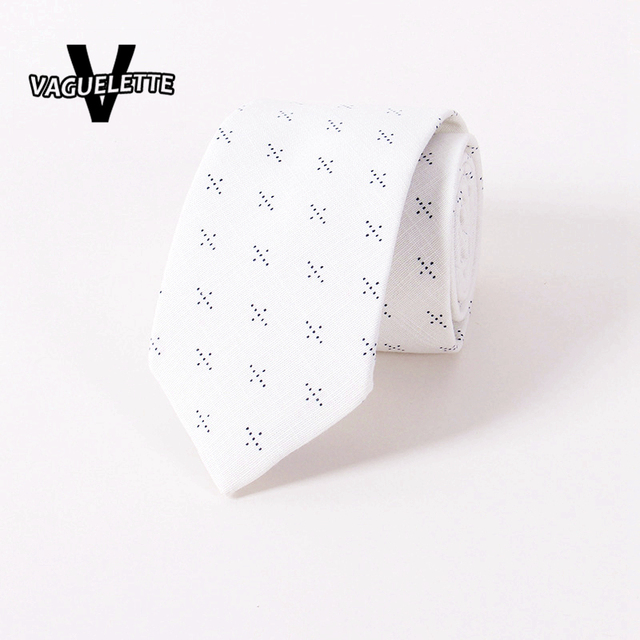f0f7de5d6718 Handmade Cotton White Skinny Tie Printed Floral Wedding Party Gravata Slim  Classic Casual Novelty Ties For Men 6.5*145*3.8cm