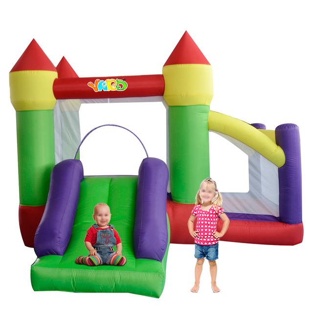 YARD DHL Free Shipping Inflatable Bouncer Funny Bouncy Castle with Slide with Powerful Blower for Kids Party