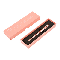 Fashion Elegant Rose Gold 0 5mm Fountain Pen With Gift Box High End Metal Ink Pens
