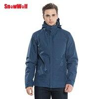 SNOWWOLF инфракрасное Отопление 2 в 1 открытый Mountain куртка термальность ветровка для мужчин спортивные куртки с капюшоном для кемпинга пеший ту
