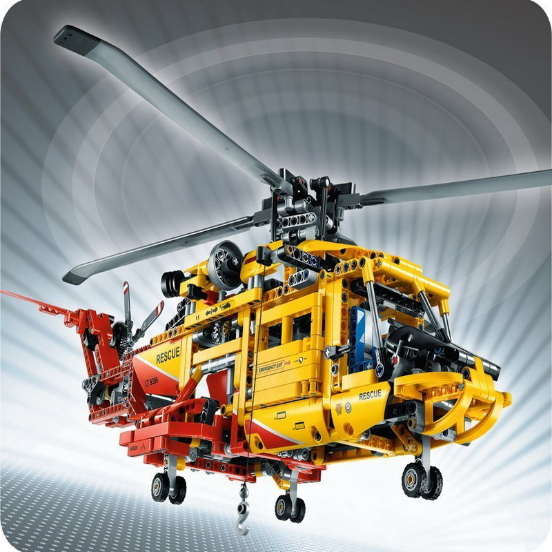 3357 DECOOL Technic City Series 2-in-1 Helicopter Model Building Blocks Enlighten DIY Figure Toys For Children Compatible Legoe