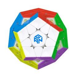 Juguetes Educativos profesionales para niños nuevo Gan Mega_M 3x3 magnético Wumofang cubo mágico puzle 12 lados dodecahedro