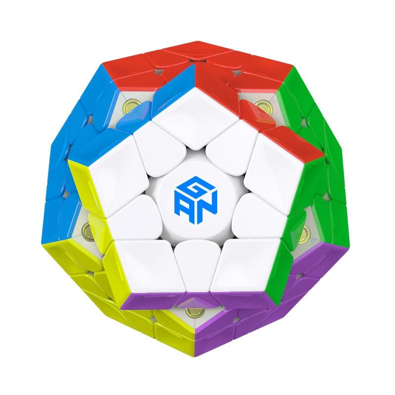 Nouveau Gan Mega_M 3x3 magnétique Wumofang Cube magique Puzzle 12 côtés Dodecahedron jouets éducatifs professionnels pour les enfants