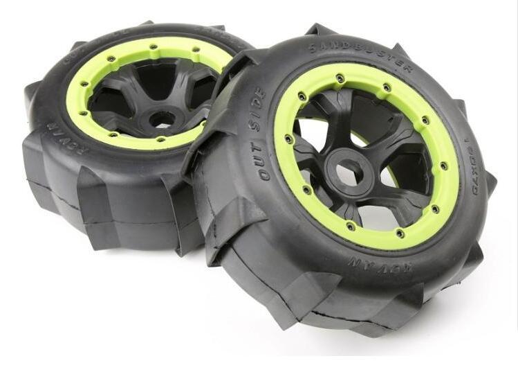 Rovan Baja 5T 5SC Rear Wheel Desert Tire Assembly 95171 цена 2017