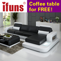 IFUNS Unique Leather Sofa Living Room Sofa Set Modern design recliner corner sectional sofa top grain italian real leather (fr)
