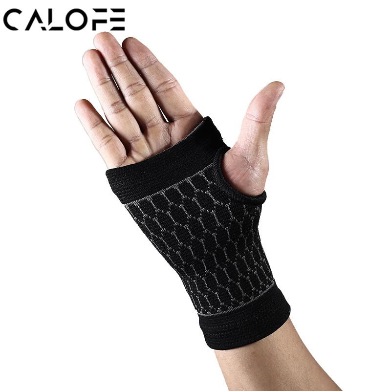 CALOFE 1Pair Gym Wrist Bands Sports Wristband Wrist Support Straps Wraps For Weight Lifting Munhequeira Protector