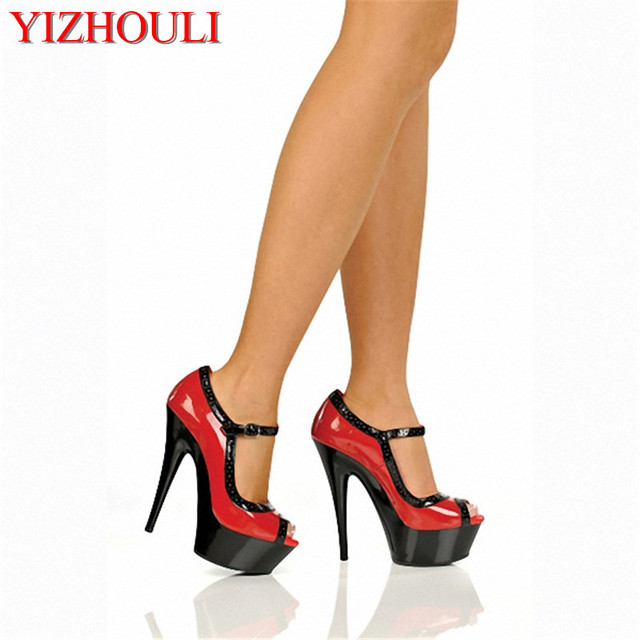 f07d704ae3e5 Single shoes platform fish mouth shoes 5 inches sexy stilettos color piece  of 15 cm super high heels for women s shoes