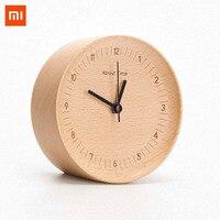 Xiaomi Wooden Digital Alarm Clock Concave Design German Beech Material Modern Wooded Digital Alarm Clock for Farmhous Decoration