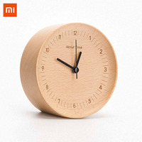 Xiaomi Wooden Digital Alarm Clock Concave Design German Beech Material Modern Wooded Digital Alarm Clock for Farmhous Decoration