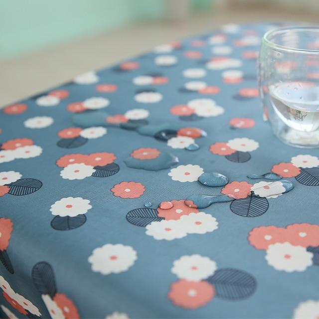 Garden Small Fresh Waterproof PVC Table Cloth Anti Oil, Anti Scald