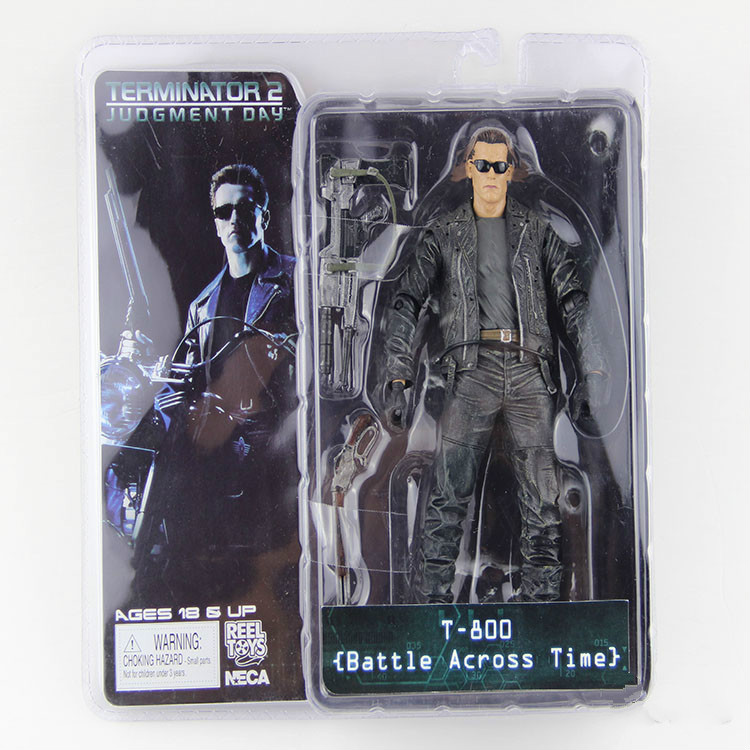 NECA The Terminator 2 T-800 Battle Across Time Arnold PVC Action Figure Toy 718cm neca terminator 2 judgment day t 800 arnold schwarzenegger pvc action figure collectible model toy 7 18cm mvfg365