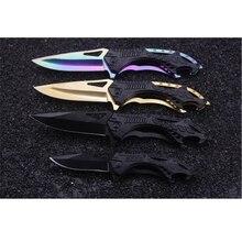 2017 nuevo cuchillo karambit Alivio recta cuchillo de la supervivencia que acampa al aire libre de escalada Al Aire Libre material de Resorte de acero Inoxidable Stee