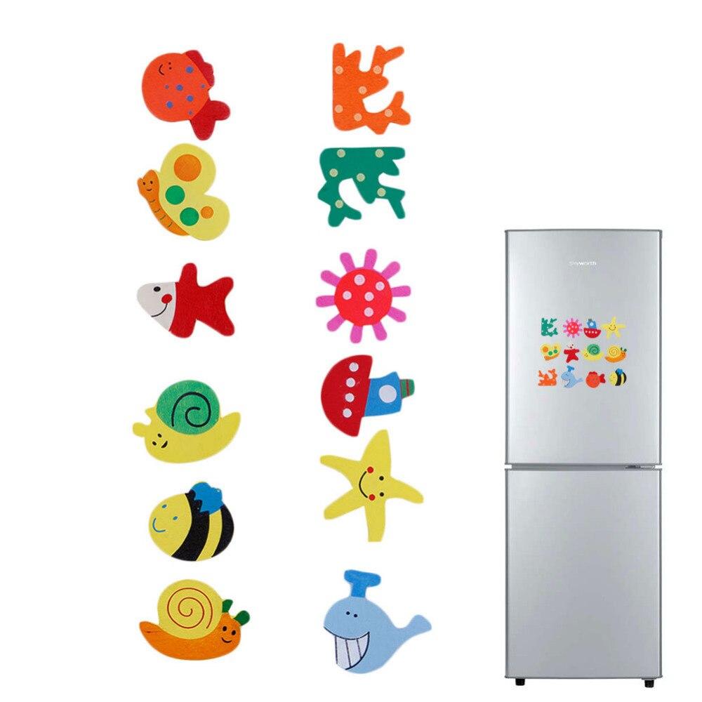 Baby Kid Wooden Magnet Educational Toy Kitchen Fridge Cartoon Funny Gift Fashion