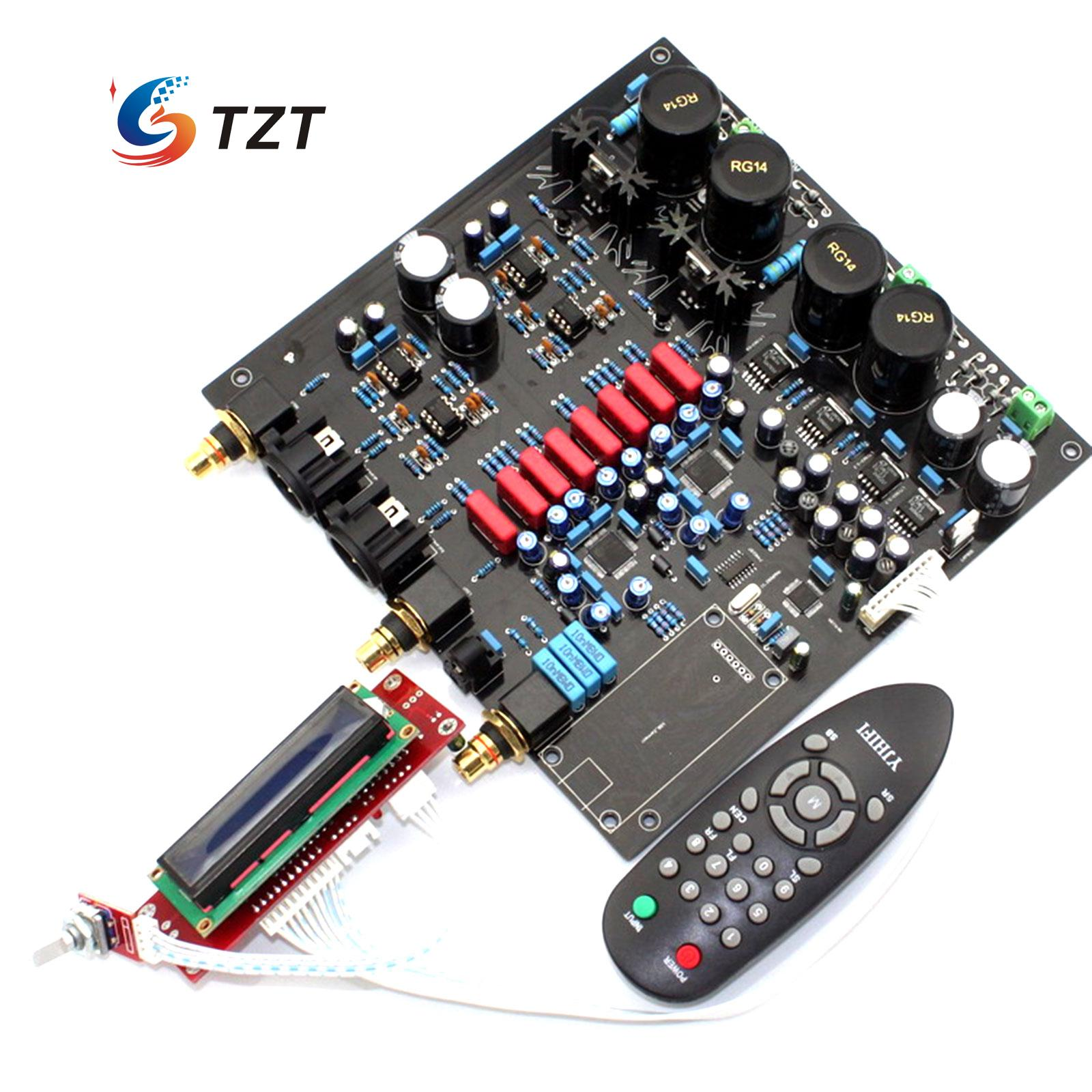 DAC Decoder Board for Audio Power Amplifier DIY with Remote Controller Support DOP DSD diy kits 70w ssb linear hf power amplifier for yaesu ft 817 kx3 amplifier