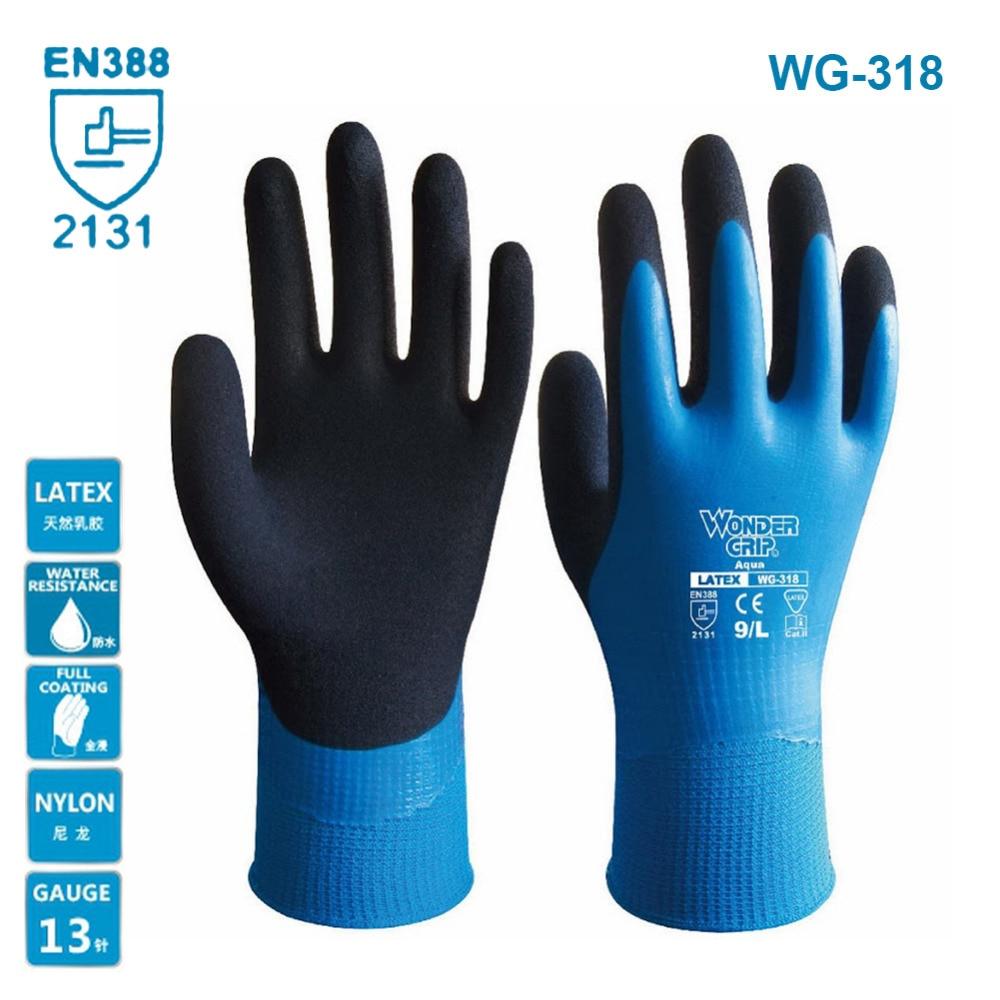 Wonder Grip WG-318 Universial Anti-cut Gloves Safety Cut Proof Resistant Waterproof Garden Safety Emulsion Gloves NEW ArrivalWonder Grip WG-318 Universial Anti-cut Gloves Safety Cut Proof Resistant Waterproof Garden Safety Emulsion Gloves NEW Arrival