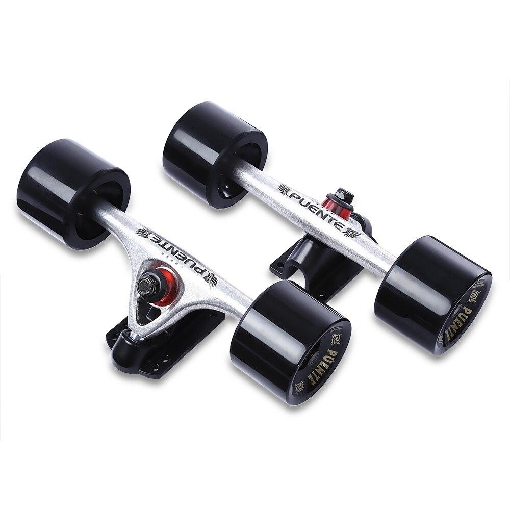 PUENTE Pro Longboard camion alliage d'aluminium 2 pcs Skate camion 70mm grandes roues Skateboard pièces - 4