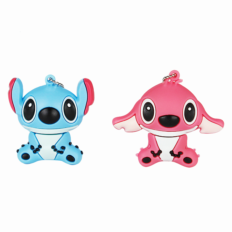 Image 4 - 2019 Cute Stitch 32GB Usb Flash Drive Cartoon Pen Drive 64gb 128gb Pendrive 16gb 8gb 4gb Usb 2.0 Flash Memory Stick Lovely Gift-in USB Flash Drives from Computer & Office