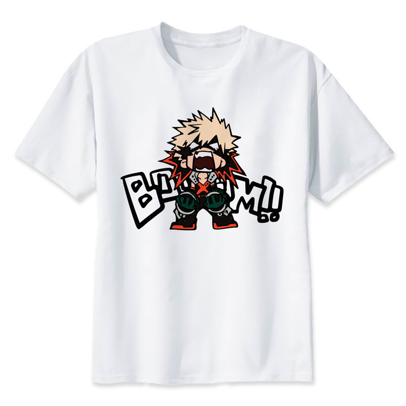 New Arrival My Hero Academia T Shirts Man Short Sleeve Clothing Boku No Hero Academia Funny Cartoon Print T-shirt For Man/woman 21