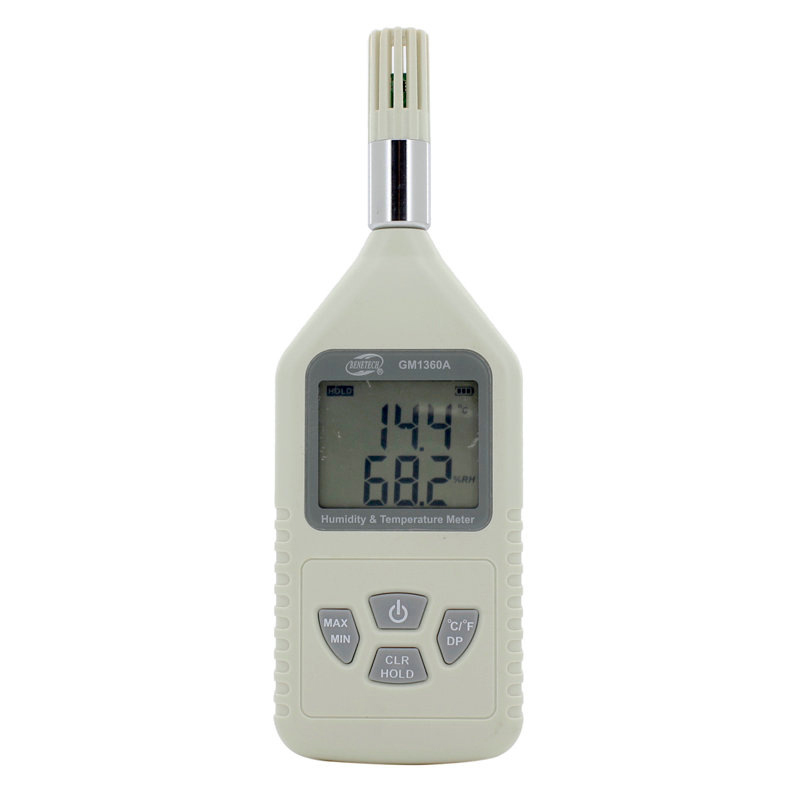 ФОТО Digital humidity & Temperature meter LCD display 0%~100%RH(-30~80C ) GM1360A industrial hygrothermograph