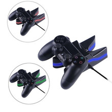 High Quality Colorful ps4 Charger Dual USB Charging Station Battery Charger for Playstation 4 Controller
