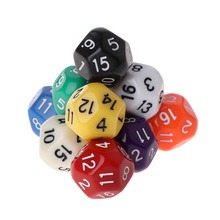 10pcs 20 Sided Dice D20 Polyhedral Dices For Dungeons and Dragons Table Games