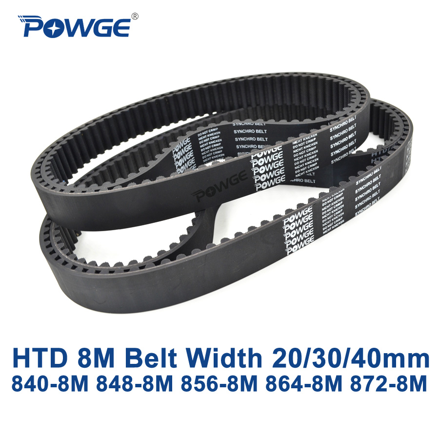 POWGE HTD 8M synchronous Timing belt C=840/848/856/864/872 width 20/30/40mm Teeth 105 106 107 108 109 HTD8M 840-8M 848-8M 872-8MPOWGE HTD 8M synchronous Timing belt C=840/848/856/864/872 width 20/30/40mm Teeth 105 106 107 108 109 HTD8M 840-8M 848-8M 872-8M