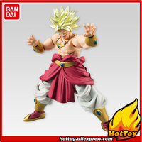 100 Original BANDAI Tamashii Nations SHODO Vol 5 Action Figure Super Saiyan Broly 9cm Tall From