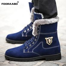2016 New High Quality Winter Men Boots Casual Plus Velvet Warm Suede Leather Ankle Snow Boots For Men Winter Shoe Zapatos Hombre