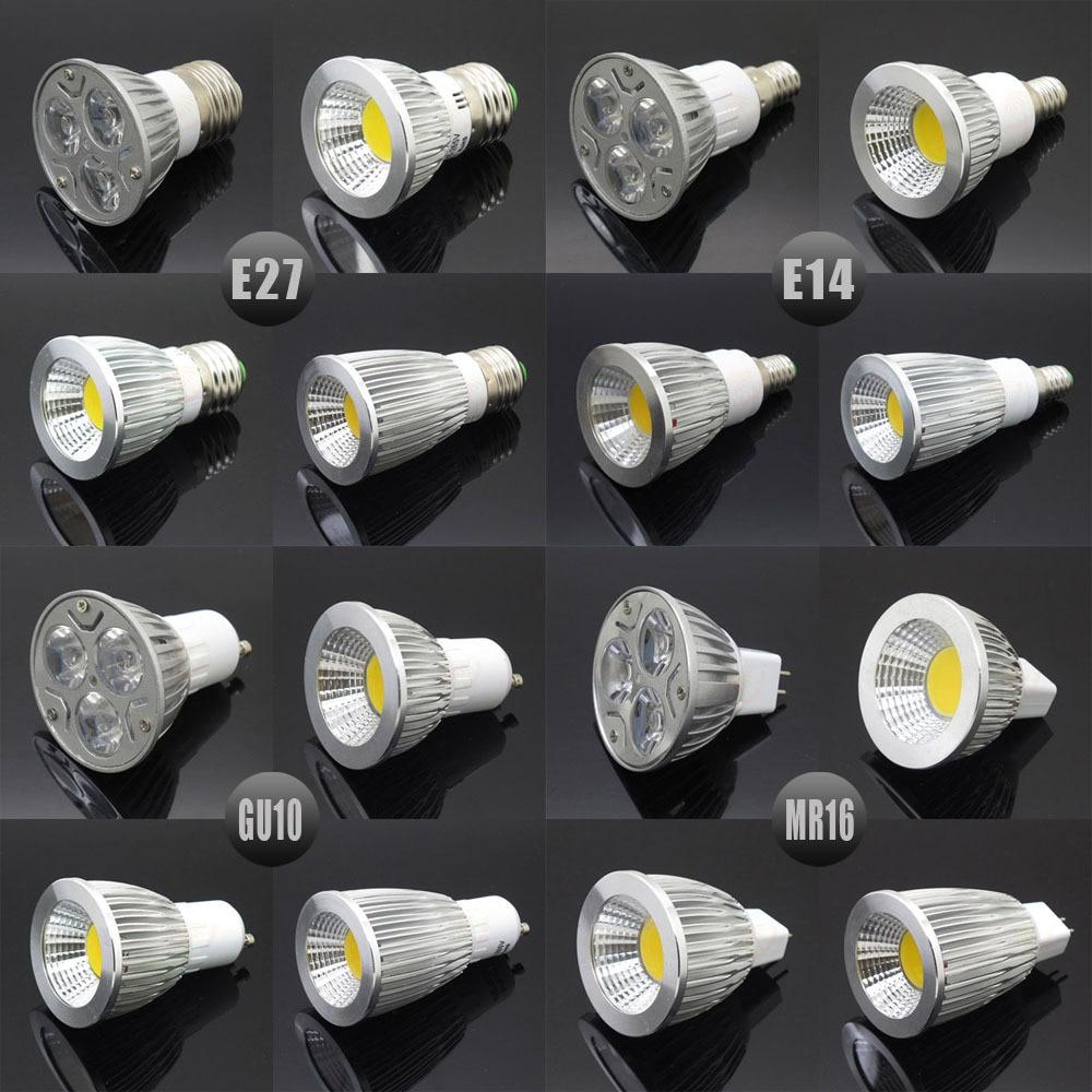 Dimmable E27 E14 Gu10 Mr16 Led Cob Spotlight Ultra Bright