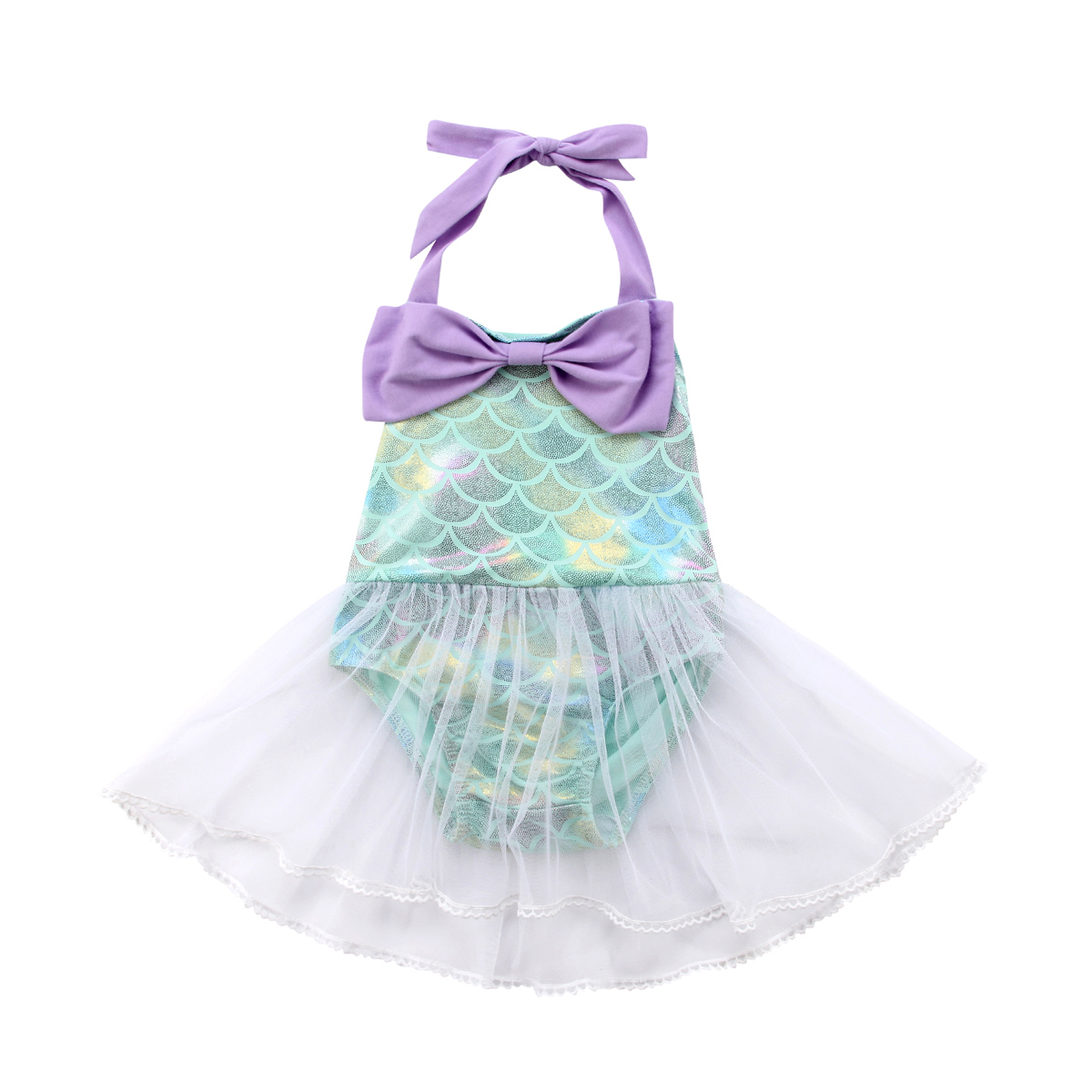 2018 Süße Ziemlich Kleinkind Baby Mädchen Strampler Kleid Sleeveless Gurt Bogendruck Dachte Taste Spitze Spielanzug-kleid 0-18 Mt Geschickte Herstellung