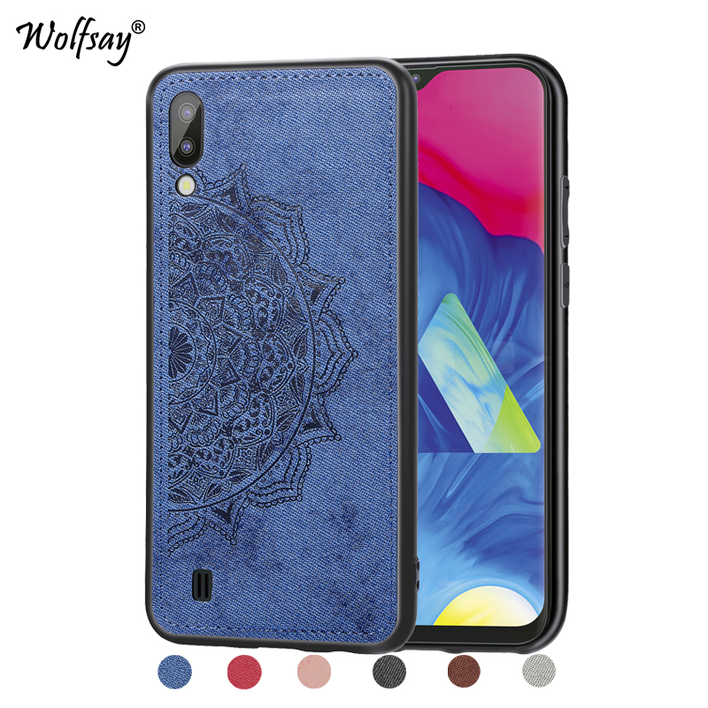 For Samsung Galaxy M10 Shockproof Soft TPU Cloth Texture Hard Back Phone Case For Samsung Galaxy M10 Cover For Samsung M10 Shell