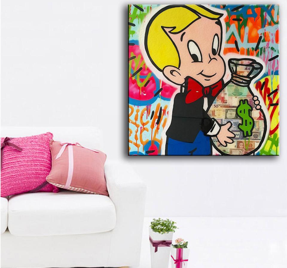 Kumsal duvar boyas rengi ile modern ve k ev dekorasyonu - B Y K Boy Bask Ya L Boya Alec Para Ile Zengin Evi Duvar Boyama Dekor Duvar Sanat Oturma