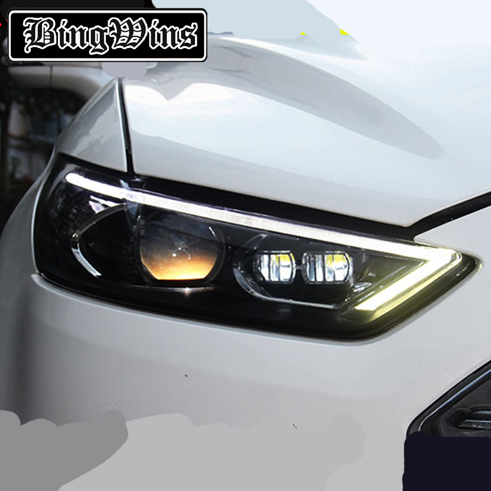 Car Styling For Ford Fusion 2013 2015 LED Headlight For Fusion Head Lamp LED Daytime Running