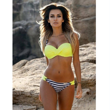 Swimwear Bikini 2017 Summer Sexy Swimwear Women Swimsuit Split Bikini Bikini Push Up Bikini set Bathsuit Plus Size XL