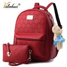 Valenkuci 2017 рюкзак женский старинные школьные рюкзаки и ранцы для девочек высокого качества для женщин кожаные рюкзаки mochilas infantis BD-176