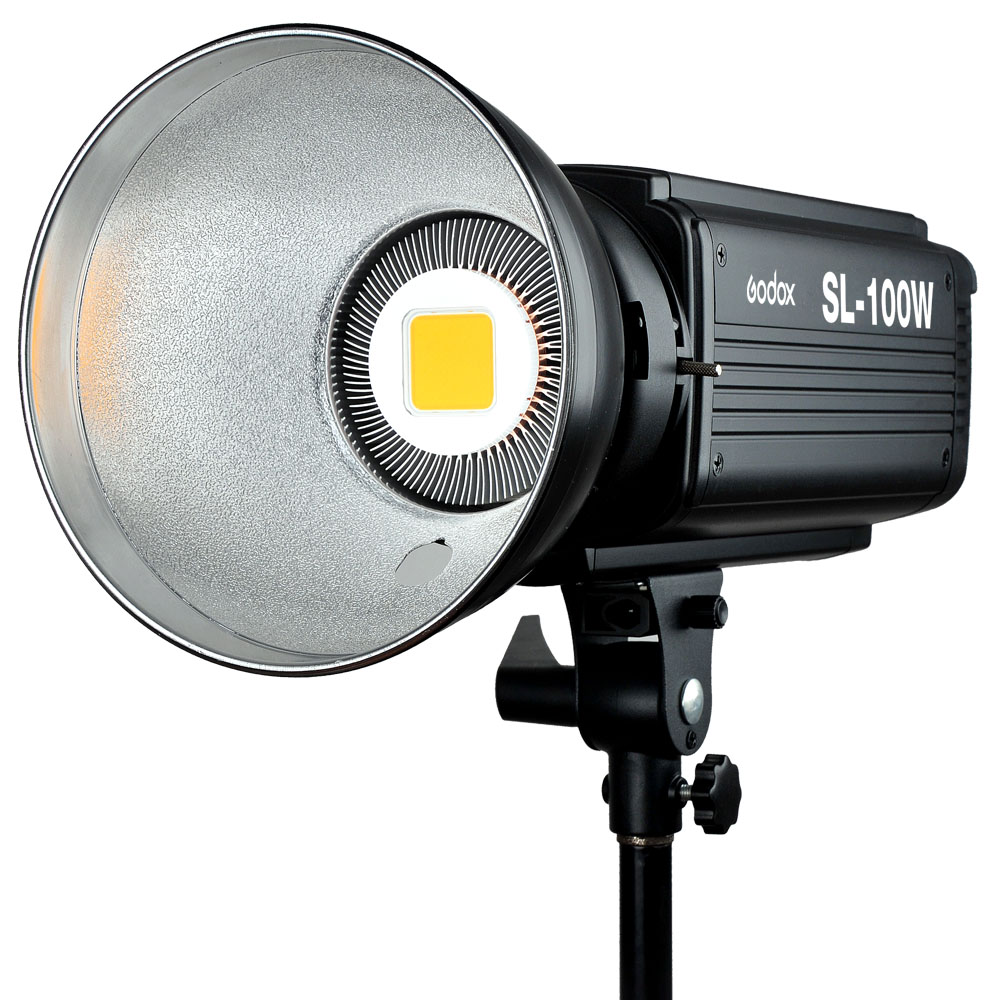 Godox SL-100W LED Video Light 100W White LED Bulbs Lamp Studio Continuous Bowens Mount Photography Lighting 220V 110V godox professional led video light