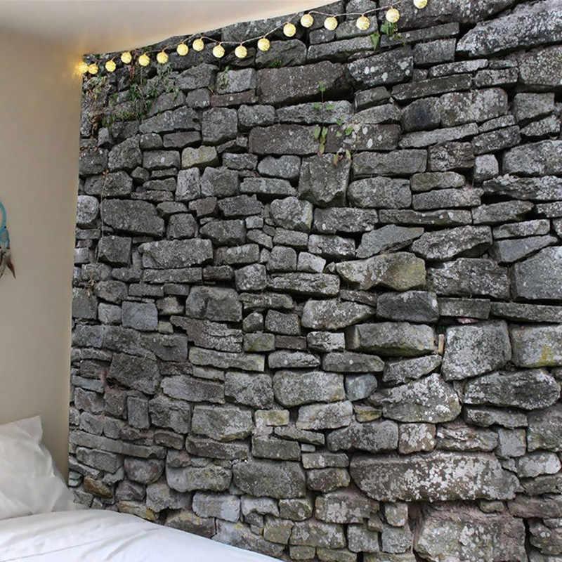 3d 石の壁装飾タペストリー 3d 絵画服クラフト背景の装飾長方形タペストリー/マット