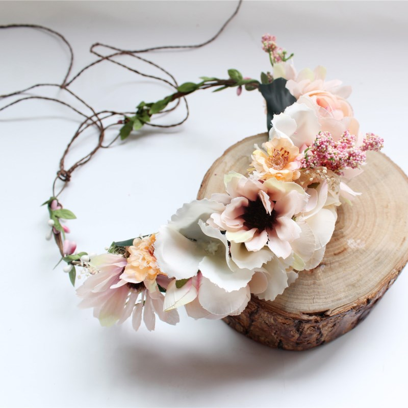 2020 High Quality Hairbands Artificial Flowers Head Hoop For Gift Girls Headbands Sweet Colors Kid Hair Accessories for Women