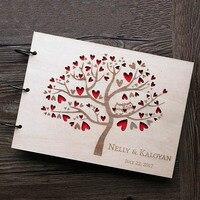 Owl Wedding Guest Book Rustic Guest Book Anchor Wedding Guestbook Wooden Wedding Gift