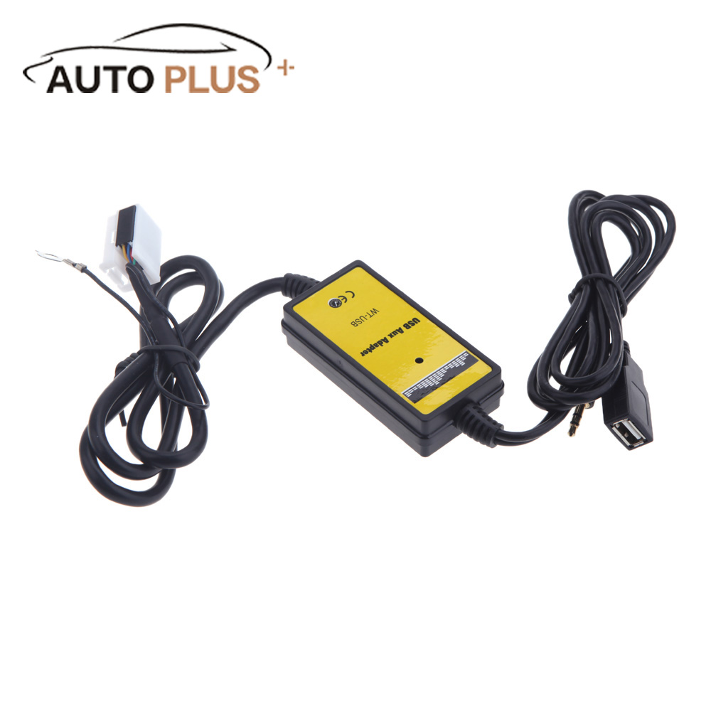 Auto car 12pin usb sd card aux in adapter mp3 player radio auto car 12pin usb sd card aux in adapter mp3 player radio interface for vw polo jetta passat golf gti touran audi a4 skoda seat in cables sciox Choice Image