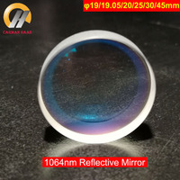 Carmanhaas Fiber YAG 1064nm Reflection Mirror Reflective Laser Lens Dia 19mm/19.05mm/20mm/25mm/30mm/45mm